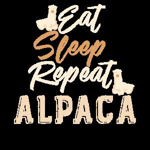 """Eat Sleep Repeat Alpaca"" Design"