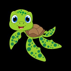 Kleine grüne Baby Schildkröte Meeresschildkröte