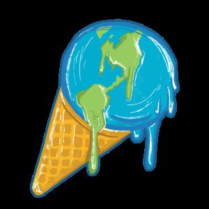 Schmelzendes Erdball-Eis