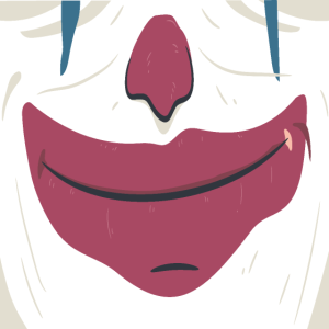 Gesichtsmaske Horror Clown Halloween Grusel Maske