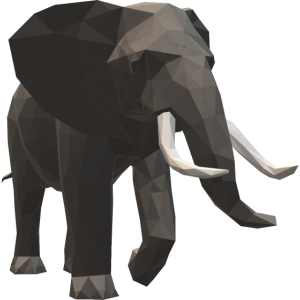 3d Elephant wenige Polygone