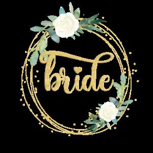 Team Bride 1 Blumen Kreis personalisierbar