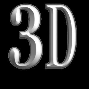 3D dreidimensional Drei Dimensionen Geschenk 3-D