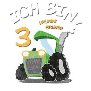 Kinder 3. Geburtstags Traktor Junge Shirt