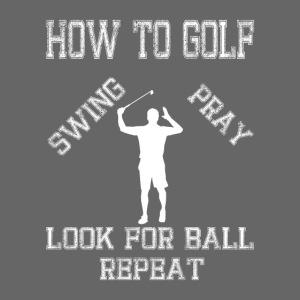 Golf Golfspieler Geschenk how to GOLF