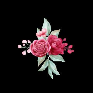 Rosen Blumen Dreieck Muster