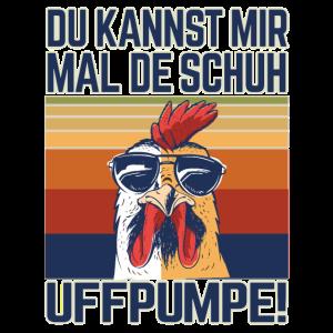Crazy Chick Vintage retro Huhn Lustig