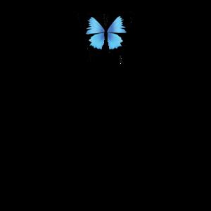 Aesthetic Schmetterling Blau - Grunge Soft Grunge