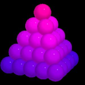 Kugelpyramide metallic