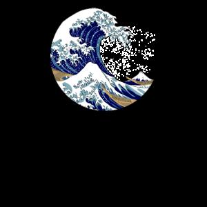 Die große Welle vor Kanagawa Halbmond Kleis