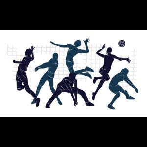 Volleyball Team Illustration