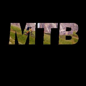 MTB Abfahrt Berge Mountainbike Geschenk Fahrrad