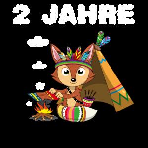 2 Jahre alt Jungen 2. Geburtstag Fuchs Zwei