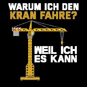 Kranführer Baustelle Kran Bauarbeiter Bau Geschenk