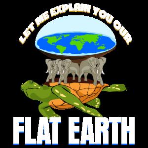 Flat earth - lustiger Flatearth Spruch