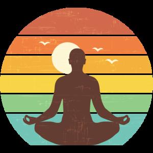 Sonnenaufgang Yoga Retro Lotus Meditation