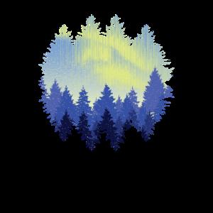 Wald Landschaft Blauer Himmel Natur Geschenkidee