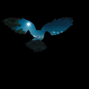 Nachteule ästhetisches Naturliebhaber geschenk