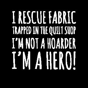 Ich rette Stoff, der im Quiltladen gefangen ist