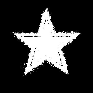 Weisser vintage Stern im verwaschenen Retro Look