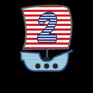 2 Jahre Jungen Piratenschiff Boot 2. Pirat Schiff