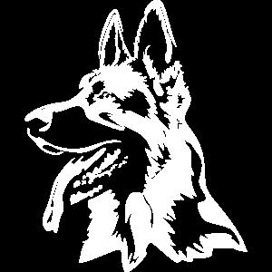 """Deutscher Schäferhund Kopf """"Black Edition"""""""