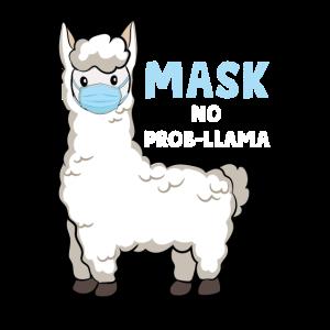Süßes Llama mit Gesichtsmaske No Prob-Llama