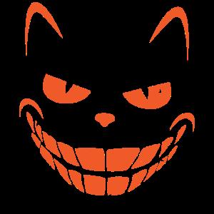 Halloween Schwarze Katze Katzengesicht Katzenkopf