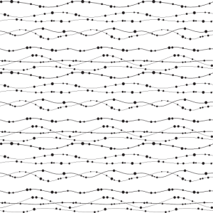 Muster - Linien - Kreise Perlen Horizontal Weiß