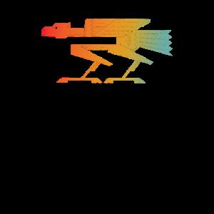 Geometrischer Vogel Design