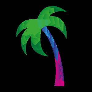 Geometrische Palme