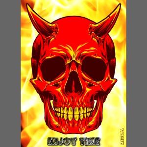 Devil Skull Enjoy Time - Diavolo teschio, goditela