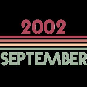 18. Geburtstag September 2002 Geschenk bday retro