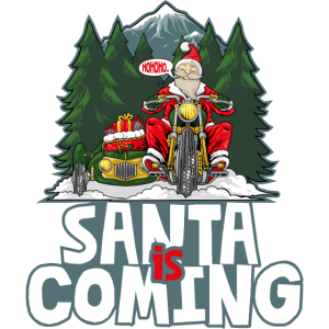 santa is coming illustration