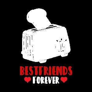 Bestfriends forever Toaster & Toastbrot Geschenk
