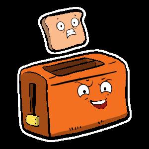 lustiger Toaster mit Toastbrot Geschenk für Toast