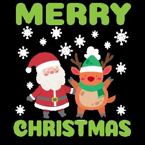 Merry Christmas - Rehntier Weihnachtsmann Geschenk