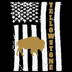 Amerikanische Flagge des gelben Büffels