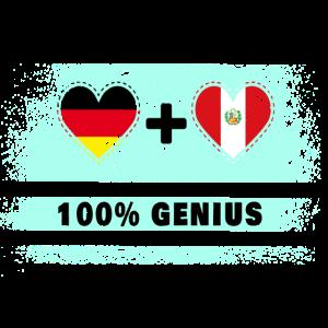 Deutschland und Peru 100% Genial / Geschenk
