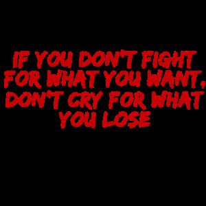 Kämpfe für dein Leben