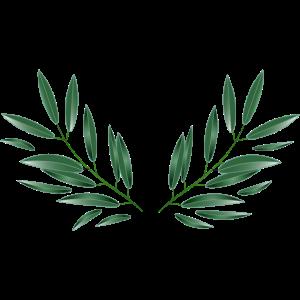 Oliven Zweige Symbol für Frieden und Hoffnung