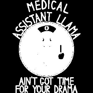 Medizinische Assistentin Lama Drama Lama Krankensc