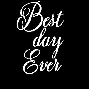 Hochzeit Word Art Bester Tag aller Zeiten