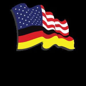 German American Flag USA America German