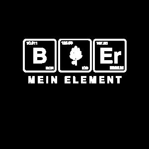 Bier Geschenk - Bier mein Element T-shirt
