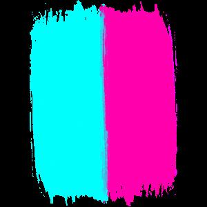 Pink Und Türkis Trendfarben Acrylfarbe Ich Liebe