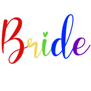 Bride Regenbogen Diversity Gaypride