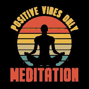 Retro Yoga Entspannung Meditation Achtsamkeit