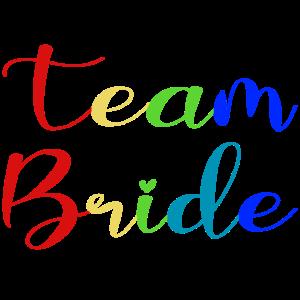 Team Bride _ Regenbogen _ Gaypride