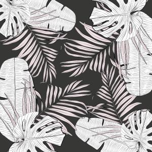 schwarze und weiße Blätter